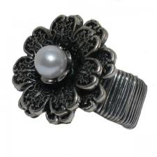 Flower Ring with Pearl Center ( SZ-1315 )